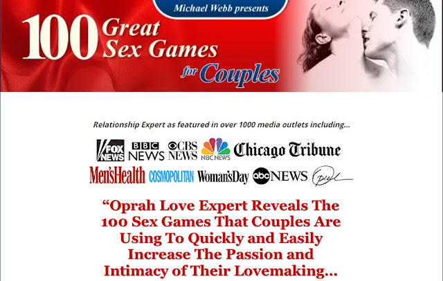 100 Great Sex Games For Couples By Michael Webb, Oprah Love Expert