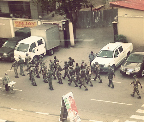 soldiers lagos election