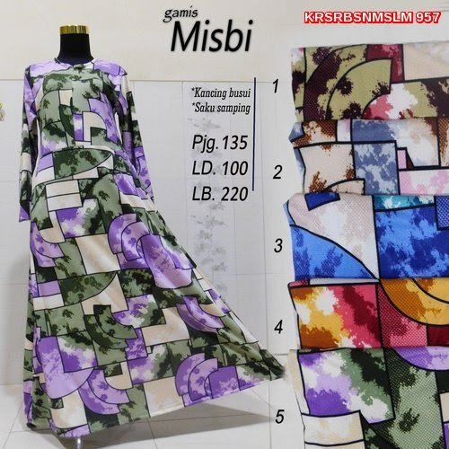 KRS957 Gamis Misbi Model Syari.. Murah BMGSHOP