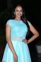 Pujita Ponnada in transparent sky blue dress at Darshakudu pre release ~  Exclusive Celebrities Galleries 096.JPG