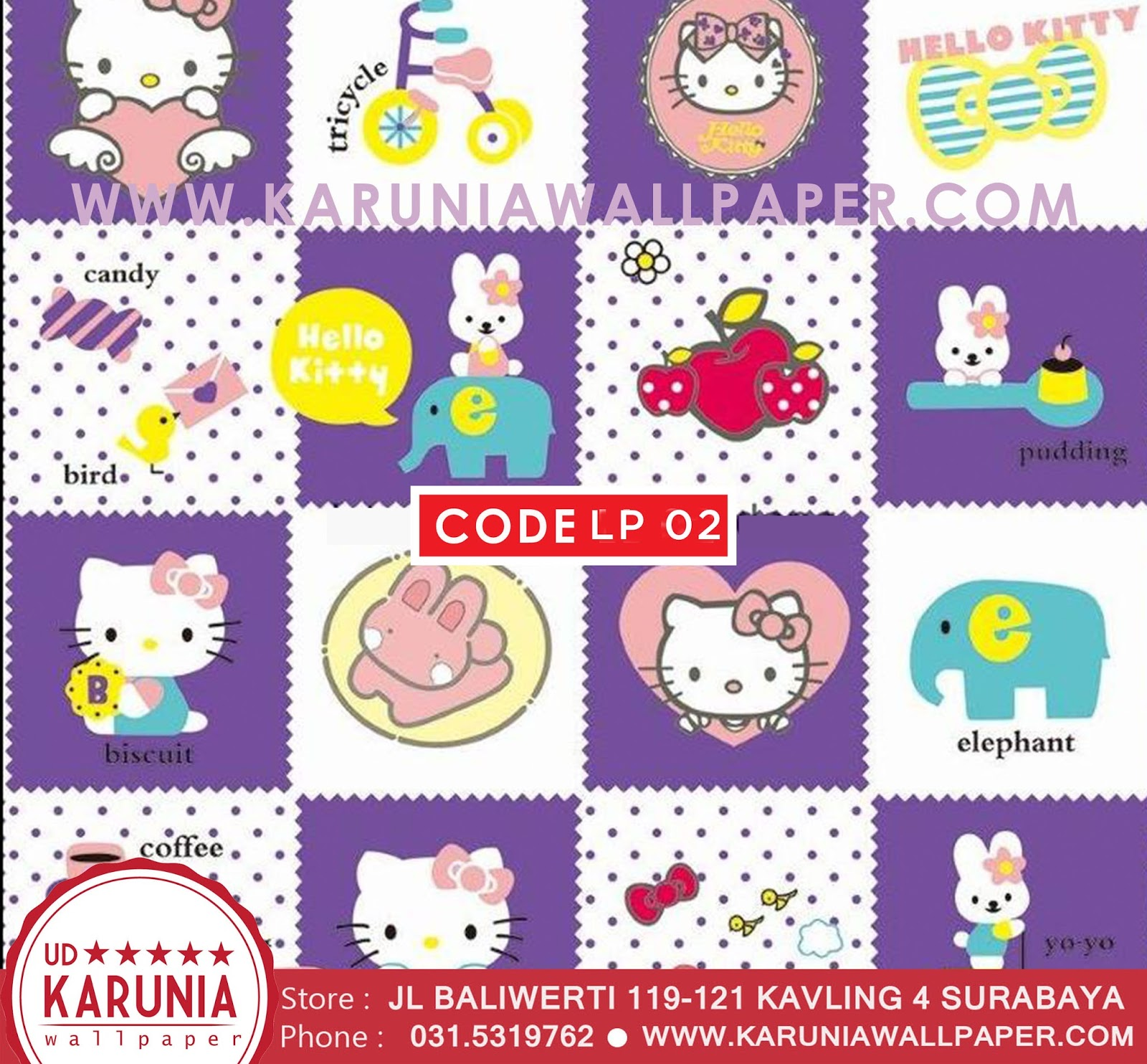 jual wallpaper hello kitty surabaya