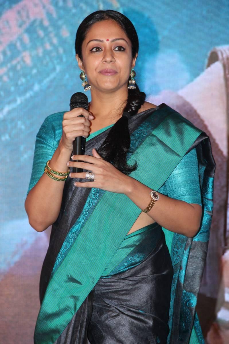 Kollywood Actress In Designer Black Saree Jyothika