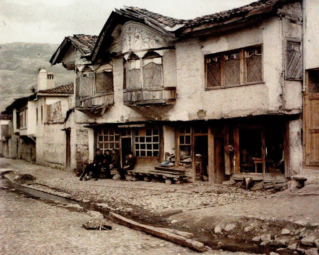 A Turkish house in Ohrid, Macedonia in 1913