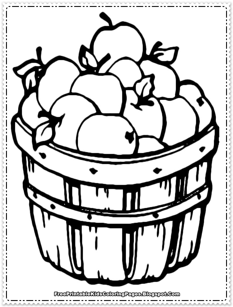 Apple fruit coloring pages printable free printable kids for Free coloring pages for preschool