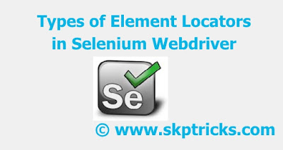 How to Identify Web Elements Using Selenium webdriver, Locators in Selenium WebDriver