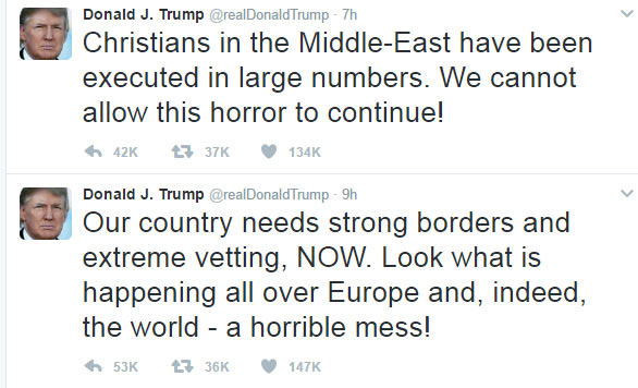 Donald Trump reacts to criticism on banning Muslim countries