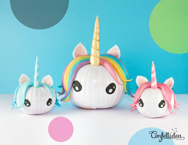 How to make a pumpkin unicorn craft