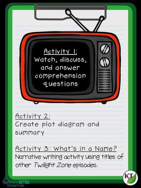 "7 ELA activities to complement The Twilight Zone episode: ""To Serve Man"""