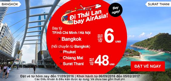 Khuyến mãi 3 triệu vé 0 đồng từ Air Asia