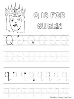 Queen Alphabet Tracer Pages