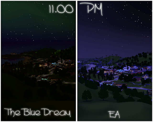 My Sims 3 Blog Updated The Blue Dream Lighting Mod By