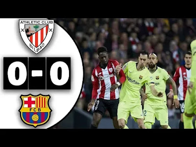 Athletic Bilbao vs Barcelona 0-0 Football Highlights and Goals 10/02/2019