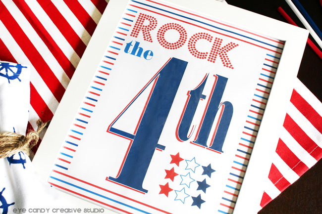 free 4th of july art, rock the 4th, stars & stripes, patriotic, american