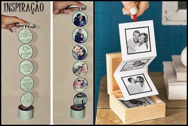 caixa com fotos e fita