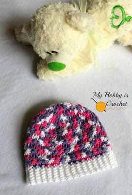 Free Crochet Pattern: Newborn Galaxy Beanie on myhobbyiscrochet.com