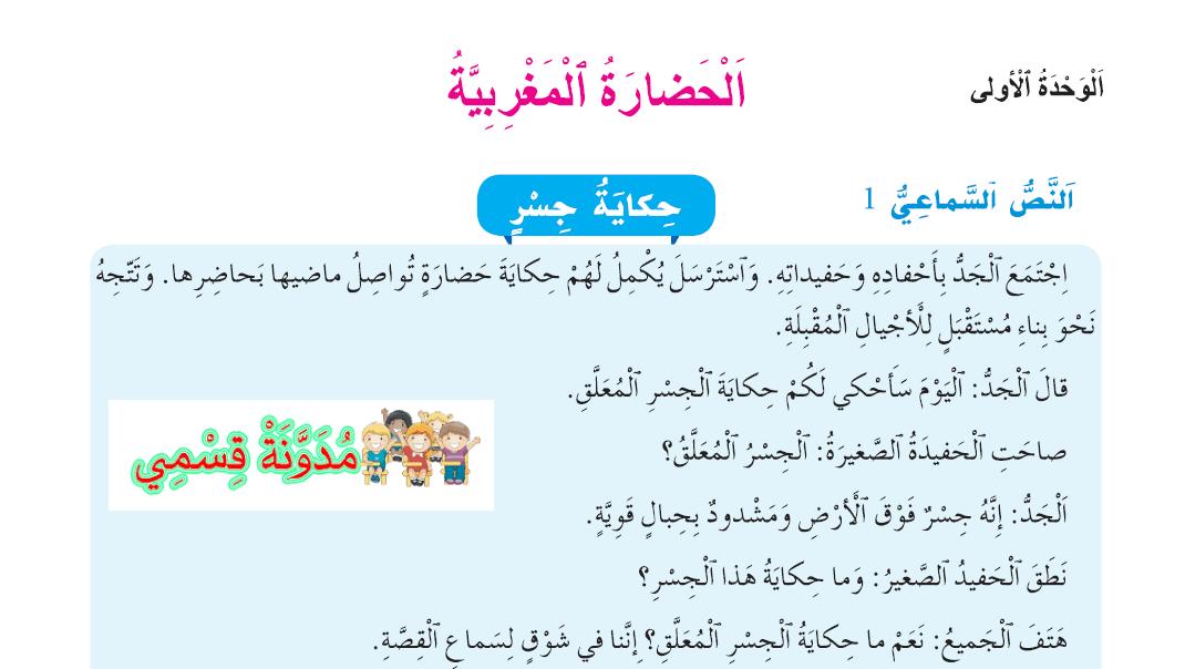 النصوص السماعية الواضح في اللغة العربية للمستوى الرابع