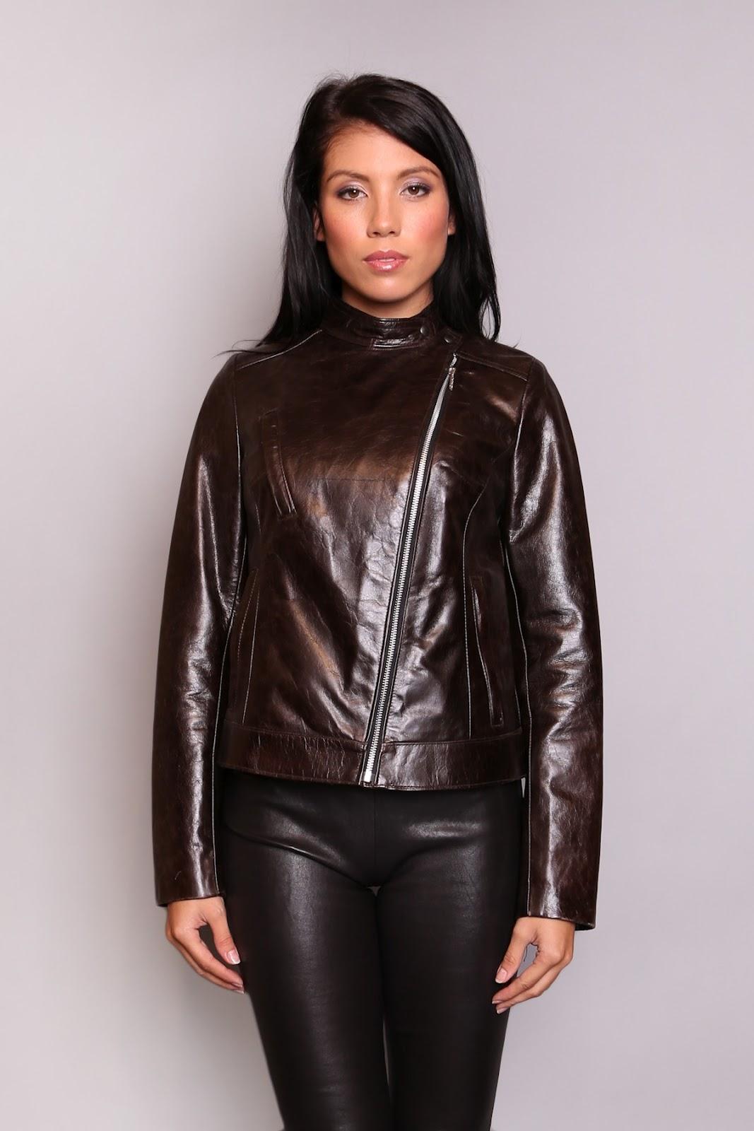 cuir femme blouson cuir marron veste en cuir marron par. Black Bedroom Furniture Sets. Home Design Ideas