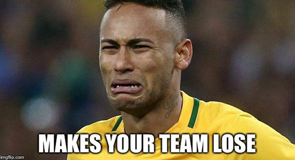Aksi Cidera Neymar Yang Justru Jadi Meme!!!