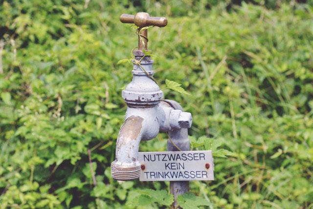 Nutzwasser tap