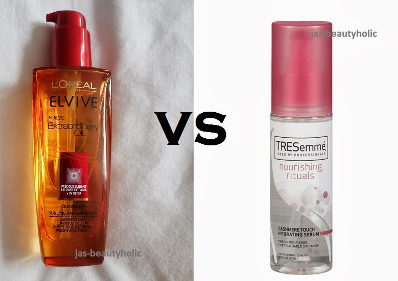 Hair Serum Comparison For Loreal And Tresemme Brand Experience On L Oreal Extraordinary Oil Cashmere Touch Nourishing Rituals