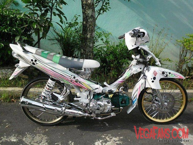 Jupiter Z Putih Modif Simple Airbrush