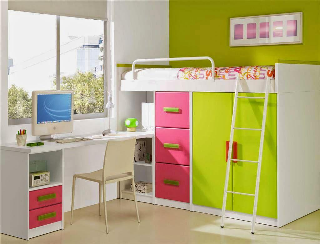 Desain kamar tidur anak paling unik nuansa hijau