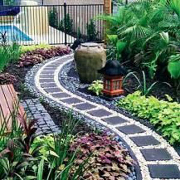 Garden Design Ideas With Pebbles: 26 Cool Pebble Design Ideas For Your Courtyard