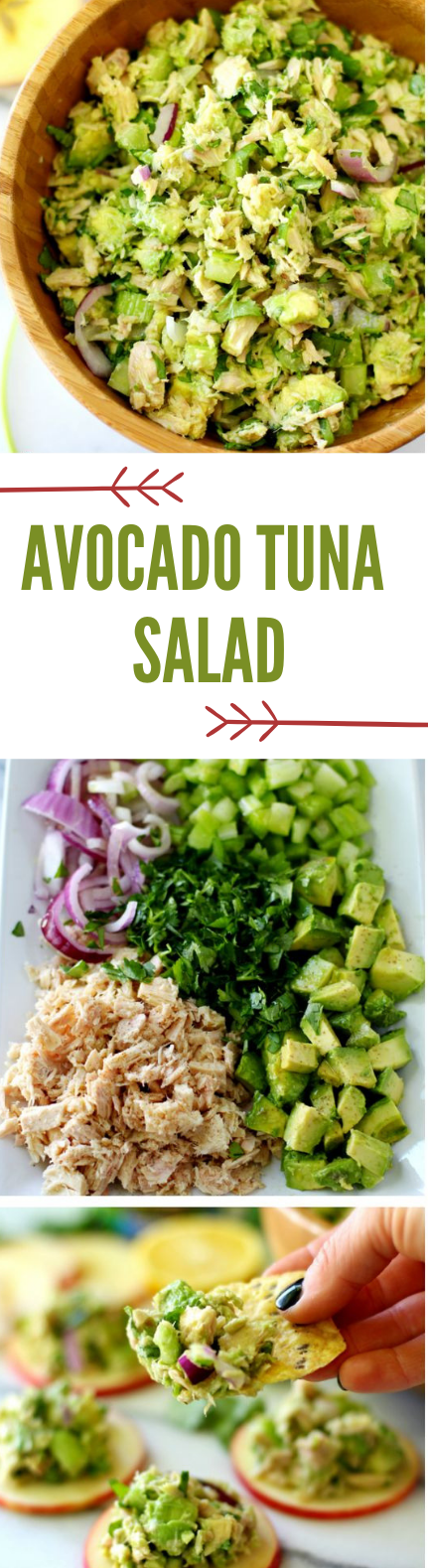 Easy Avocado Tuna Salad #avocado #salad #diet