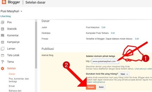 Mengubah domain blogspot menjadi com