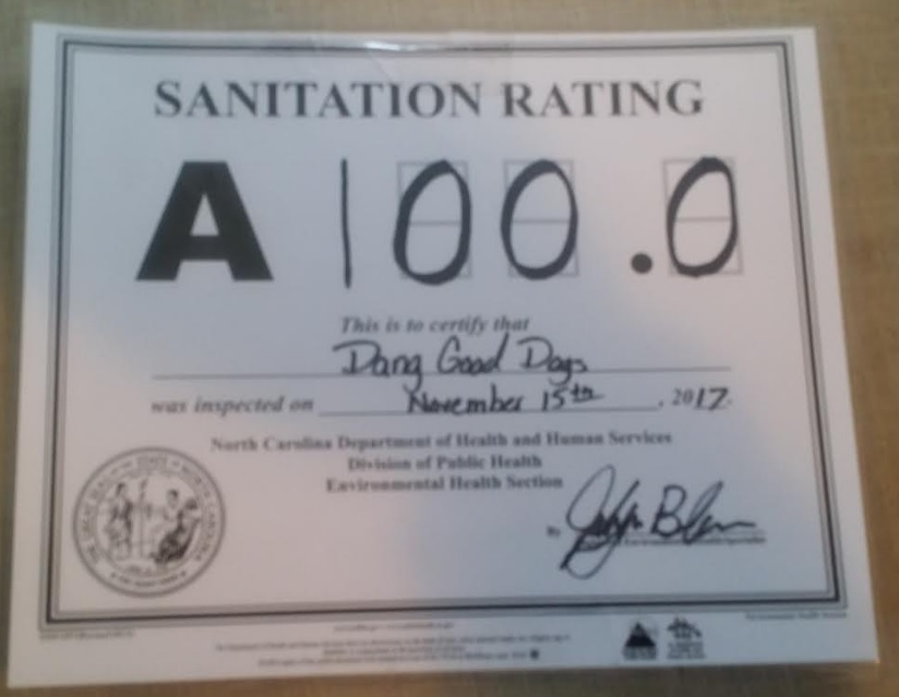 Dang Good Dogs, LLC: Sanitation Rating & Insurance