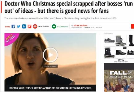 Dr Who Christmas 2019.Bob Canada S Blogworld Told You So