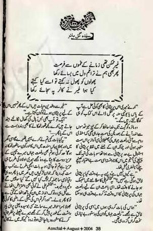 Ankaboot e aarzoo novel by sayeda gul bano reading corner for Syeda gul bano novels