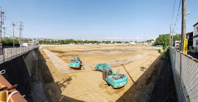 2018年5月上旬の建設地の様子