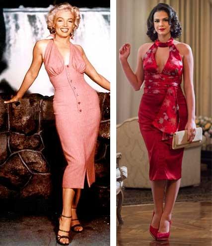 Figurino Nada será como antes, Marilyn e Beatriz (Bruna Marquezine), vestido