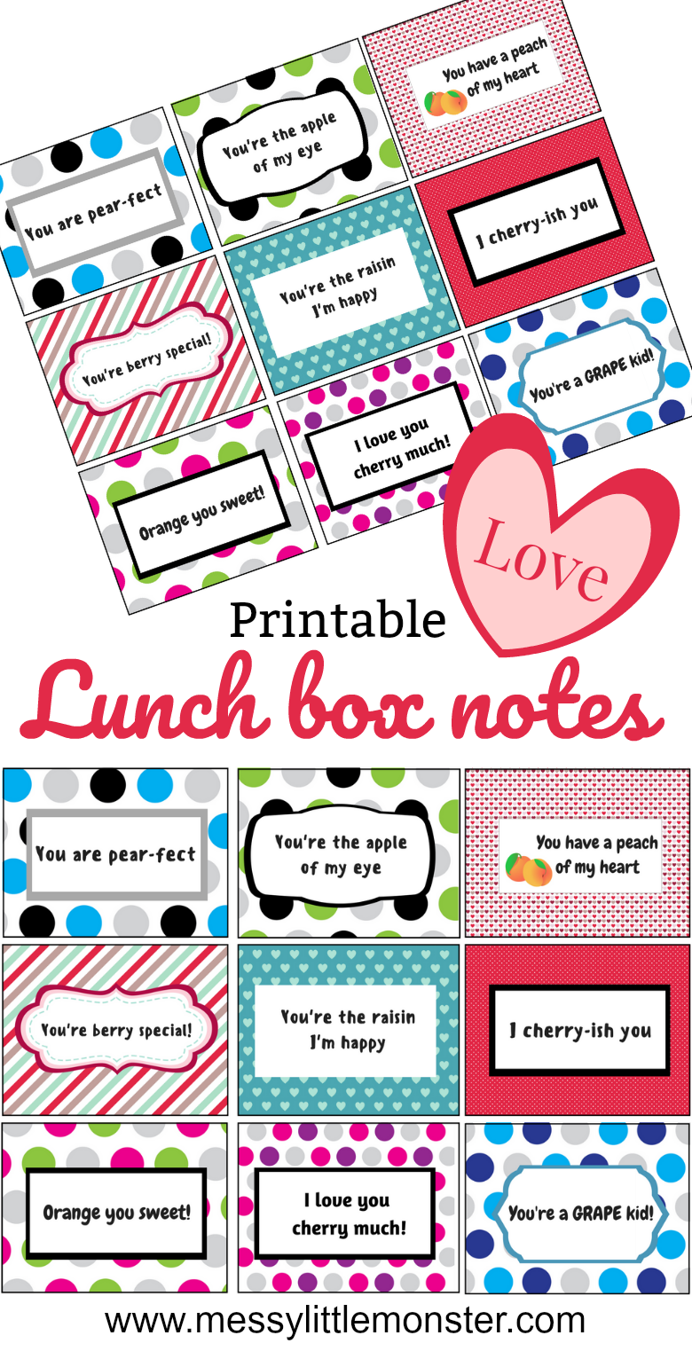Free printable fruit pun lunch box notes for kids (or adults!). Perfect for Valentines Day or any other day of the year! Download and print out the sheet of 9 lunch box notes and add them to a lunch box alongside the correct piece of fruit. Good for encouraging healthy eating and making someone smile.