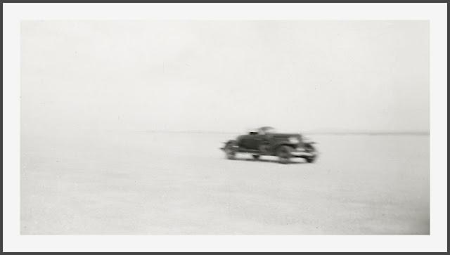 Auburn Speedster On Muroc Dry Lake California In 1930s