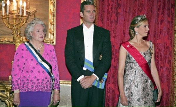 Pilar de Borbón junto a Iñaki Urdangarin y la Infanta Cristina