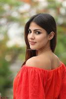 Rhea Chakraborty in Red Crop Top and Denim Shorts Spicy Pics ~  Exclusive 191.JPG