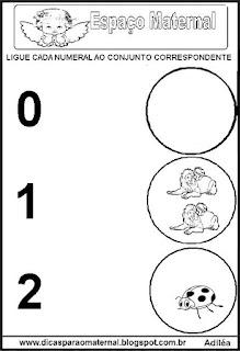 Atividades com numerais e quantidades