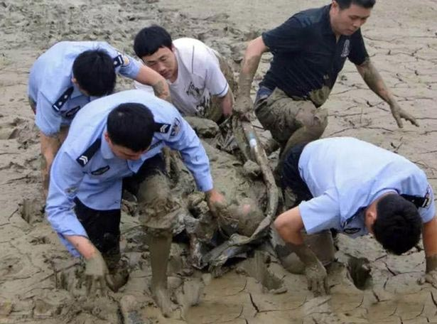 How man trapped in mud for 12 hours was rescued by passerby