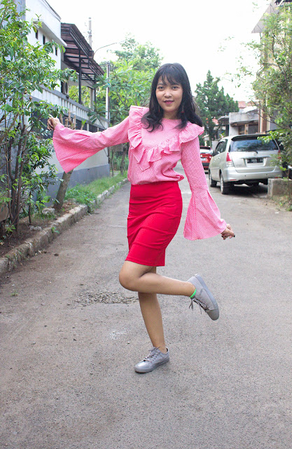 red ootd