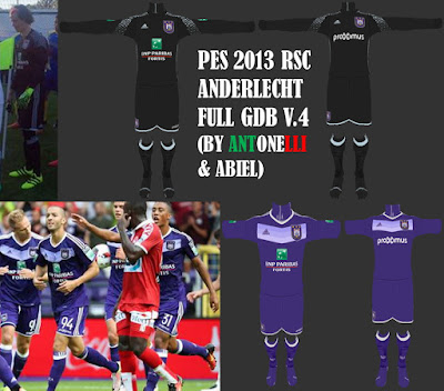 PES 2013 Anderlecht 2016-17 Full GDB V.4 (BY ANTONELLI & ABIEL)