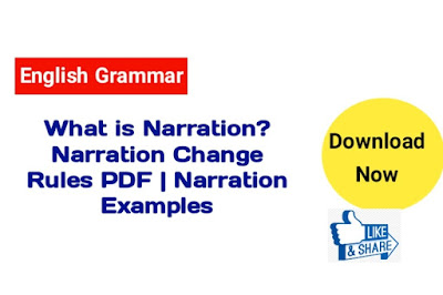 What is Narrations?  Narrations Change Rules PDF | Direct and Indirect Speech
