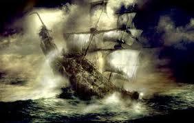 kapal hantu The Flying Dutchman yang menyeramkan kapal yang sering menampakan diri