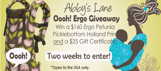 Abby's Lane Ooh! Ergo Giveaway !!
