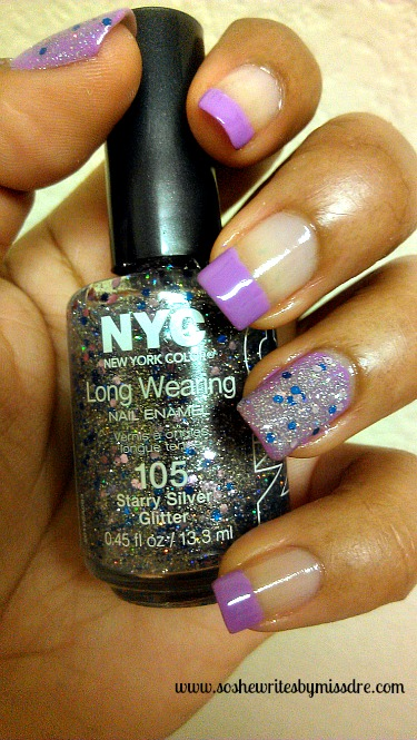 nyc nail polish in starry silver glitter