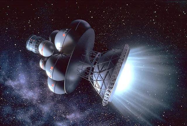 exploração espacial - nave do futuro