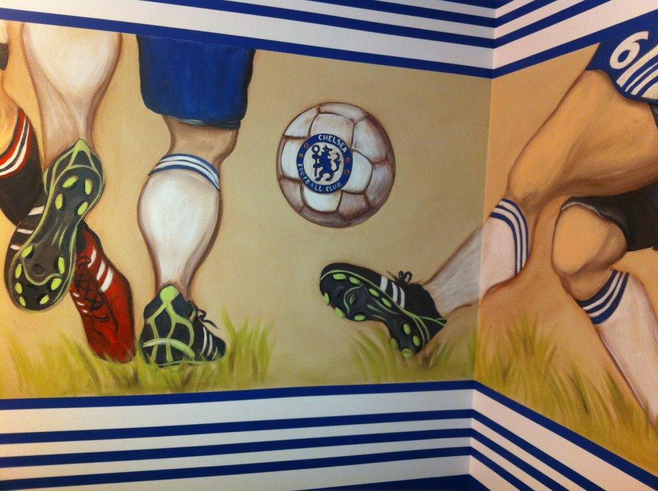 Michele Levani Artist Quot Chelsea Soccer Mural Quot By Michele