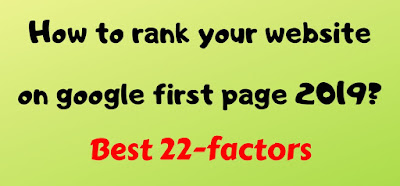 rank your website on google first page