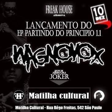 O rapper WagnoVox irá lançar seu EP dia 10 de Dez na Matilha Cultural
